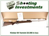 Kimber 84M Varmint Stainless Fluted 22-250 ANIB for sale - 1 of 4