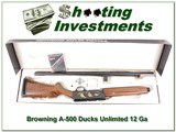 Browning A-500 Ducks Unlimited 12 Ga unfired in box! - 1 of 4