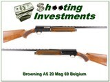 Browning A5 20 Magnum 69 Belgium Vent Rib Mod for sale - 1 of 4