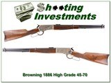 Browning 1886 High Grade 1886 Forest Service 45-70