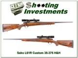 Sako L61R Custom 35-375 H&H Magnum Burris scope