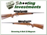 Browning A-Bolt 22 Magnum Exc Cond Pentax Scope