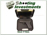 Glock Model 17 9mm unfired in case
