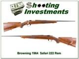 Browning Safari Grade 64 Belgium 222 Rem collector! - 1 of 4