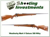 Weatherby Mark V Deluxe 300 Wthy Mag Exc Cond - 1 of 4