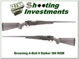 Browning A-Bolt II Stalker 300 WSM as new