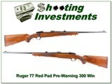 Ruger 77 Red Pad early pre-warning 300 Win - 1 of 4