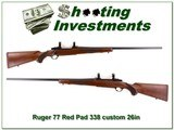 Ruger 77 Red Pad 338 Custom 26in Exc Cond - 1 of 4