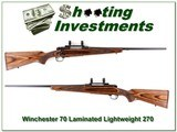 Winchester Model 70 Laminate Lightweight 270 - 1 of 4