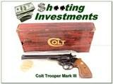 Colt Trooper Mark III 22LR Blued 8in ANIB - 1 of 4