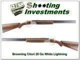 Browning Citori 20 Gauge White Lightning 20 Ga 26in as new! - 1 of 4