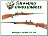 Remington 700 BDL 270 Win near new! - 1 of 4
