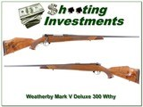 Weatherby Mark V Deluxe 300 Wthy Mag - 1 of 4