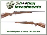 Weatherby Mark V Deluxe USA 300 as new! - 1 of 4