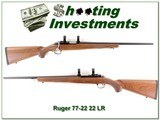 Ruger 77-22 22 Magnum as new - 1 of 4