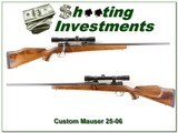 Custom German Mauser in 25-06 with 4X Swift Scope