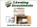 Beretta M9 in box with Lazor sight