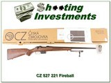 CZ 527 in hard to find 221 Fireball (221 Rem) in box - 1 of 4