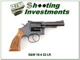 Smith & Wesson Model 18-4 22 LR 4in Blued Exc Cond - 1 of 4
