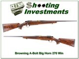 Browning A-Bolt Big Horn 270 Win 1 of 600 - 1 of 4