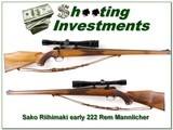 Sako Riihimaki early Bofer Steel Mannlicher 222 Rem - 1 of 4