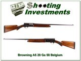 Browning A5 20 Gauge FIRST Year 58 Belgium - 1 of 4