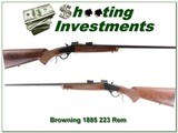 Browning 1885 Low Wall 223 Remington XX Wood! - 1 of 4