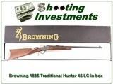 Browning 1885 Traditional Hunter 45 LC NIB - 1 of 4
