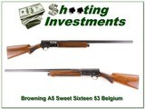 Browning A5 Sweet Sixteen 53 Belgium 28in Mod Solid Rib - 1 of 4