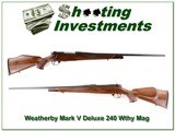 Weatherby Mark V Deluxe GERMAN 240 Wthy - 1 of 4