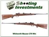 Whitworth Interarms Mauser Classic Safari 270 Win