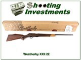 Weatherby XXII 22 Bolt action Anschutz NEW in BOX!