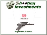 Ruger Mark III 22LR 5.5in threaded Exc Cond in box 2 Magazines