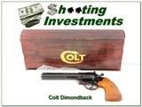 1982 Colt Diamondback 22 LR Blued 6in unfired in box! - 1 of 4
