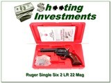 Ruger Single Six 50 Years Blued 4 5/8 in 22 LR & 22 Mag