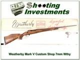 Weatherby Mark V Custom Shop 7mm Wthy