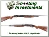Browning Model 42 410 Bore Grade 6 XXX Wood