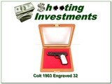 Colt 1903 Auto 32 made in 1920 Engraved in presentation case - 1 of 4