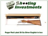 Ruger Red Label 20 Gauge Silver English stock