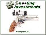 Colt Python 6in Nickel Exc Cond Aimpoint scope