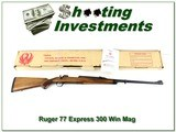 Ruger 77 Express 300 Win Mag in box!