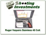 Ruger Vaquero 4.5in Stainless 45 in case