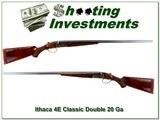 Ithaca Classic Doubles 4E 20 Bore