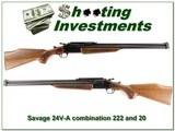 Savage 24V-A Combo 20 Ga and 222 Remington