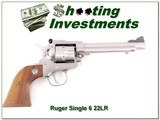 Ruger Single Six New Model 5.5in Stainless 22 LR - 1 of 4