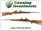Ruger 77 Red Pad Tang Safety 270 Win - 1 of 4