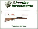 Ruger No.1 B new, unfired in box in 223 Remington - 1 of 4