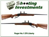 Ruger No.1 Sporter Red Pad 1976 Liberty 270 as NEW! - 1 of 4