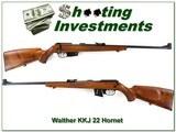 Walther KKJ-HO 22 Hornet Exc Cond!