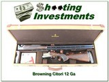 Browning Citori 525 Golden Clays 32in 12 Gauge in case